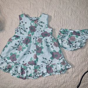 🧚OLD NAVY - 12 mo LINEN BLEND DRESS WITH BLOOMERS